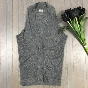 Wallace Grey Marled Sleeveless Sweater Vest Tunic